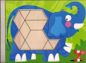 elephant theme pattern block templates