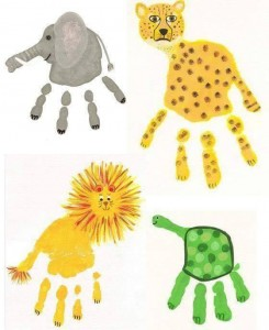 handprint animal crafts for kids (5)