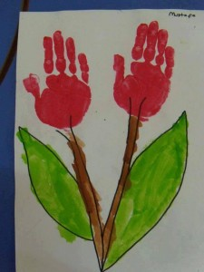 handprint flower crafts (8)