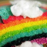Our rainbow sensory bin