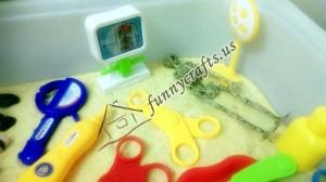 human body parts sensory tub