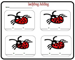ladybug math free  worksheets for kıds (12)