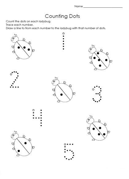Ladybug Printable Worksheets : Ladybug math free worksheets for kıds « funnycrafts