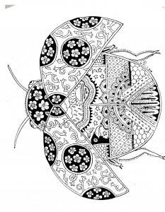 ladybug spring mandala coloring pages (1)