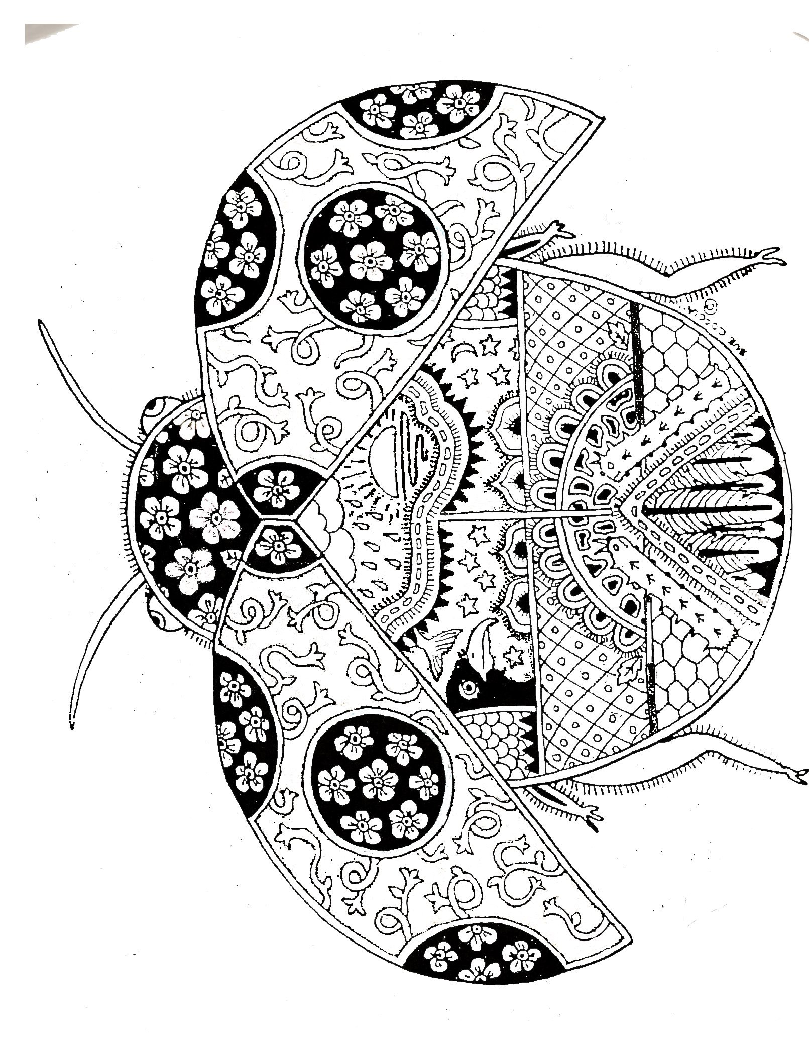 Ladybug Spring Mandala Coloring Pages Funnycrafts