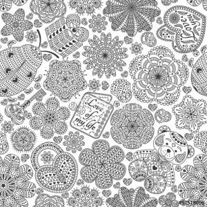 ladybug spring mandala coloring pages (3)