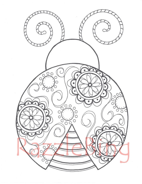 Ladybug Spring Mandala Coloring Pages 4 on Cute Spring Bulletin Board Ideas