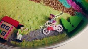 montessori rainbow sensory bin
