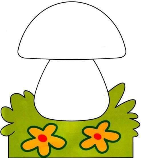 Finger Painting Templates Mushroom 2