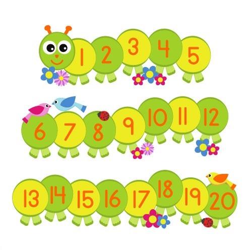 Number Caterpillar Math Activities 3 on Caterpillar Counting Template