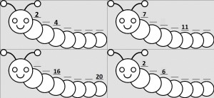 number caterpillar  math activities (4)