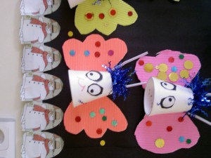 paper cup butterfly crafts