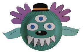 paper plate alien mask