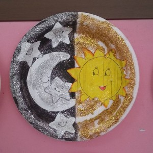 paper plate day and night crafts