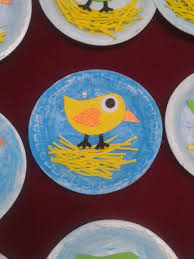 paper plate spring  bird craft (2)