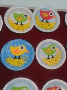 paper plate spring  bird craft (3)