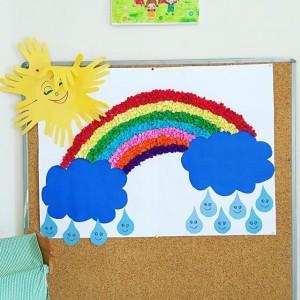 rainbow bulletin board ideas for kıds (31)