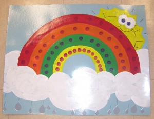 rainbow bulletin board ideas for kıds (33)