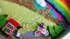 rainbow fun sensory bin
