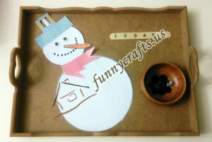 snowman counting and number activities