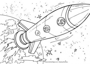 space ship coloring pages