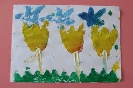 sponge paint art project for kıds (12)