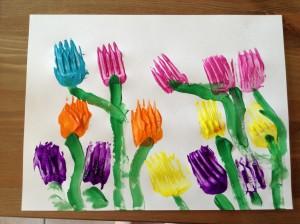 spring fork print acivitiy