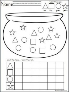 st-patrick day shapes worksheets