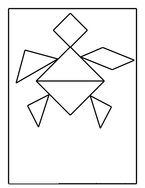 tangram coloring pages - photo#23