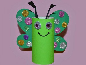 toilet paper roll butterfly crafts (1)