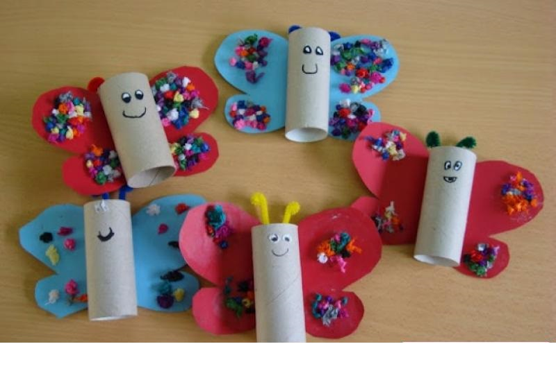 Toilet Paper Roll Butterfly Crafts