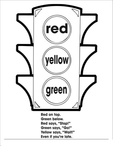Traffic light coloring worksheets k ds 2 funnycrafts for Traffic light coloring pages