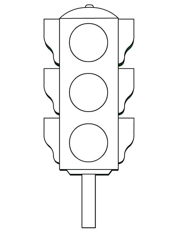 ... light worksheets » traffic light coloring worksheets kıds (5