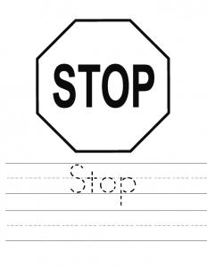 traffic stop worksheets