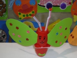 yogurt cup butterfly crafts
