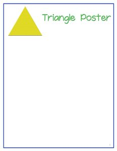 Triangle  poster printables