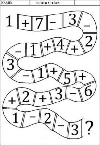 addition and subtraction worksheets (1)