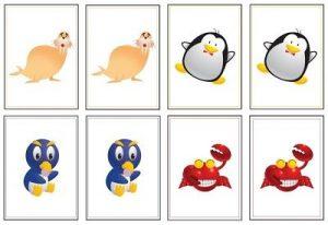 animal memory game printables