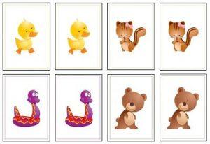 animals memory game printables