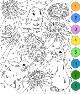 bunny color by number activities (4)