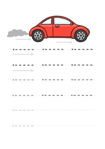 car line handwriting worksheet