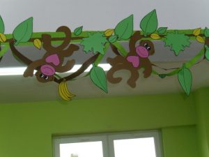 classroom wall decorations monkey craft