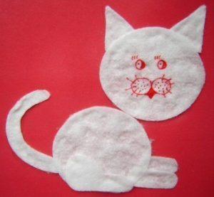 cotton pads animals crafts (4)