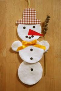 cotton pads  winter crafts (2)