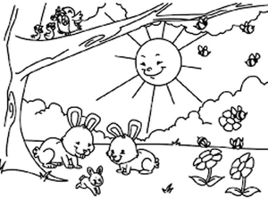 easter bunny coloring pages (2)