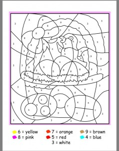 easter color by number activities (3)