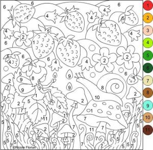 easter counting coloring pages