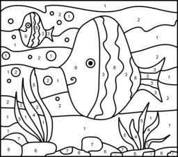 fish color by number coloring pages (1)