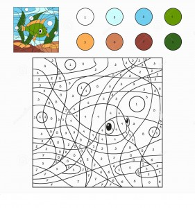 fish color by number coloring pages (7)