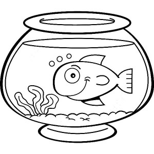 Fish coloring pages for kids  funnycrafts